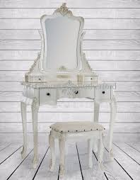 french style dressing table mirror and stool set