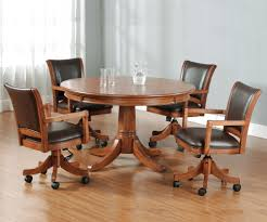 round flip top gaming dining table by hillsdale wolf and
