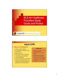 bls study guide and pretest printable cardiopulmonary