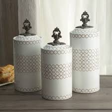 white kitchen canisters kitchen canisters for less overstock