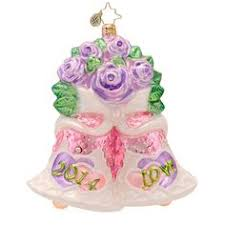 radko bells will be ringing bridal ornament 2013 christopher
