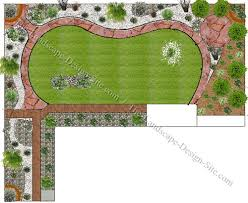 Landscaping Plans For Backyard by Backyard Cool Backyard Landscape Plans Appealing Green Rectangle