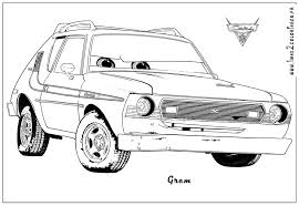 cars characters coloring page fun coloring pages
