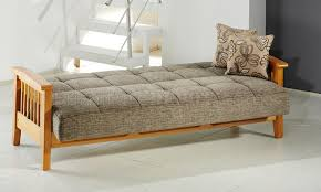 Wooden Frame Sofa Bed Microfiber Living Room W Wooden Frame Storage Sleeper Sofa
