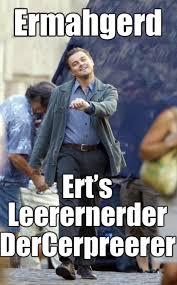 Leonardo Dicaprio Walking Meme - ermahgerd strut strutting leo know your meme