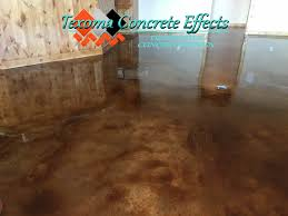acid stained concrete new construction by texoma concrete effects