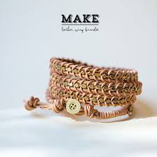 make wrap bracelet images Diy leather wrap bracelet poppytalk jpg