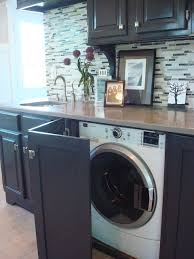 cuisine cacher cacher le lave linge dans la cuisine avec une porte rabatante lave