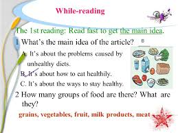 unit 3 health and food reading b a balanced diet ppt download