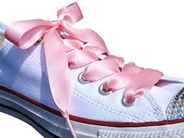 ribbon shoe laces pink satin ribbon shoe laces shoe strings to fit