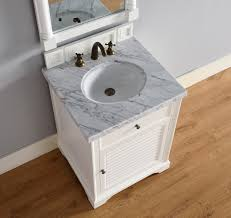 Bathroom Vanity Counter Top by Abstron 26 Inch White Finish Single Sink Traditional Bathroom