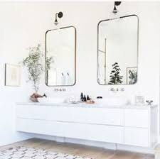 bright bathroom interior with clean tour an interior designer s ultra cool malibu farmhouse sinks