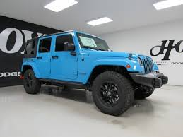jeep wrangler in the winter 2017 jeep wrangler unlimited 4x4 4 door suv winter blue suv for