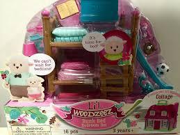 Bedroom Set Parts Amazon Com Li U0027l Woodzeez Bunk Bed Bedroom Furniture Set Toys U0026 Games