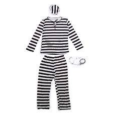 halloween inmate costume couples jail prisoner jailbird convict costume halloween hen