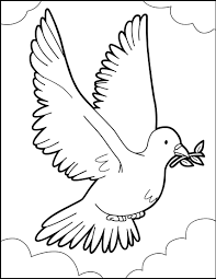 the flight of the dove of peace coloring pages hellokids com