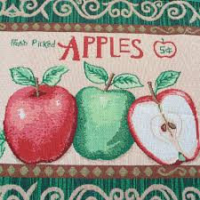 yazi country style apples soft fabric kitchen rug mat room floor