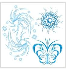 flower design for tattoo royalty free vector image