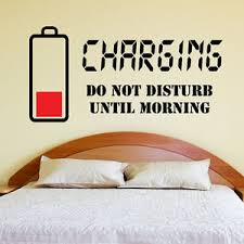 bedroom wall stickers charging do not disturb wall sticker wall quote art decal teenager