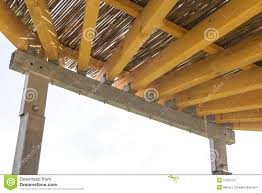 Metal Pergola Frame by Pergola Structures Of Metal And Wood Stock Photo Image 57061557