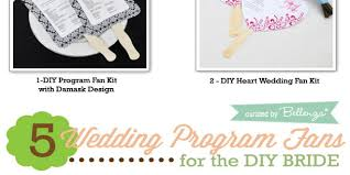 wedding program fan kits easy wedding program fan kits for the diy