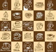 coffee shop background design trendy coffee shop checked vector background http www welovesolo