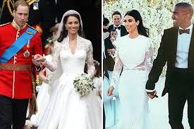 wedding dress kanye beaten by kate middleton in best wedding dress poll