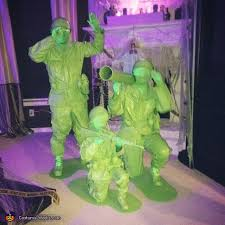 Green Army Man Halloween Costume Plastic Army Men Family Halloween Costume