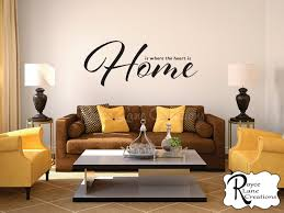 Home Is Where The Heart Is Home Is Where The Heart Is Living Room Wall Decal
