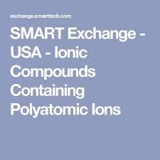 best 25 polyatomic ion ideas on pinterest chemistry chemistry