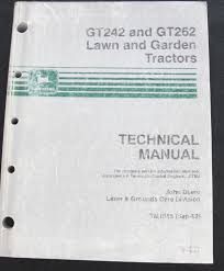 john deere gt242 gt262 lawn tractor service repair technical