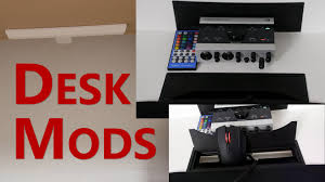 how to cable manage a desk desk mods 1 extreme cable management youtube
