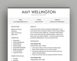 executive resume design executive resume etsy
