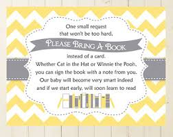 bring a book instead of a card poem magical bring a book shower card harry potter inspired