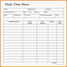 free timesheet templates daily timesheet template free download