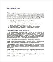 business report sample 17 business report templates free sample