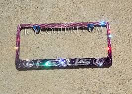lexus plate frame lexus pink to purple ombre swarovski bling license plate frame