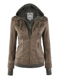 ll womens 2 for one hooded faux leather jacket at women s
