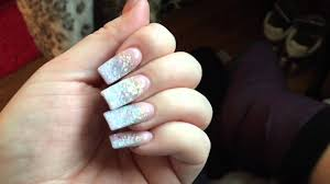 nails of the month glitter ombré french with red bottoms youtube