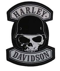 harley davidson spike helmet skull patch harley patches