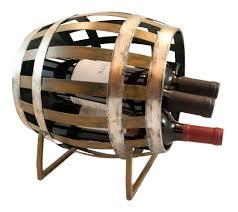 barrel shaped 3 bottle wine rack u2013 theop wine