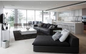 custom salon avec canape noir vue patio est comme 12 superbes