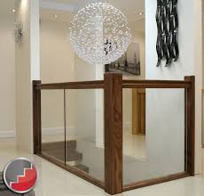Banisters Glass Stair Banisters Milan Black Walnut Handrail Toughened Glass