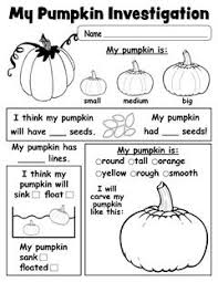 pumpkin investigation worksheet free printable