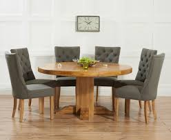 solid oak round dining table 6 chairs round oak dining table for 6 coryc me
