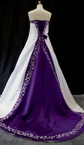 purple white wedding dress purple and white wedding dress naf dresses