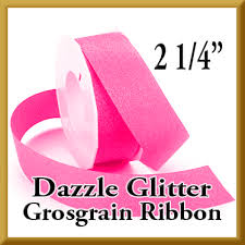 glitter ribbon wholesale wholesale dazzle glitter grosgrain 2 1 4 inch shocking pink by the