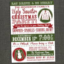 sweater invitation printable or printed for