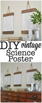 hang poster without frame diy vintage science poster science posters hanging art and easy