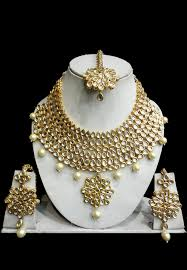 necklace set image images Kundan necklace set jjr16525 jpg